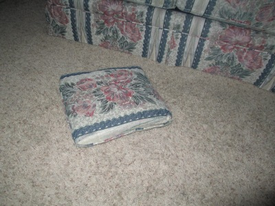 throw pillow on the floor
