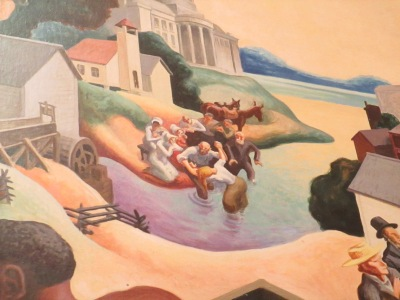 wall memorial by Thomas Hart Benton